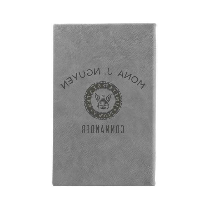 personalized journal u s navy laser engraved
