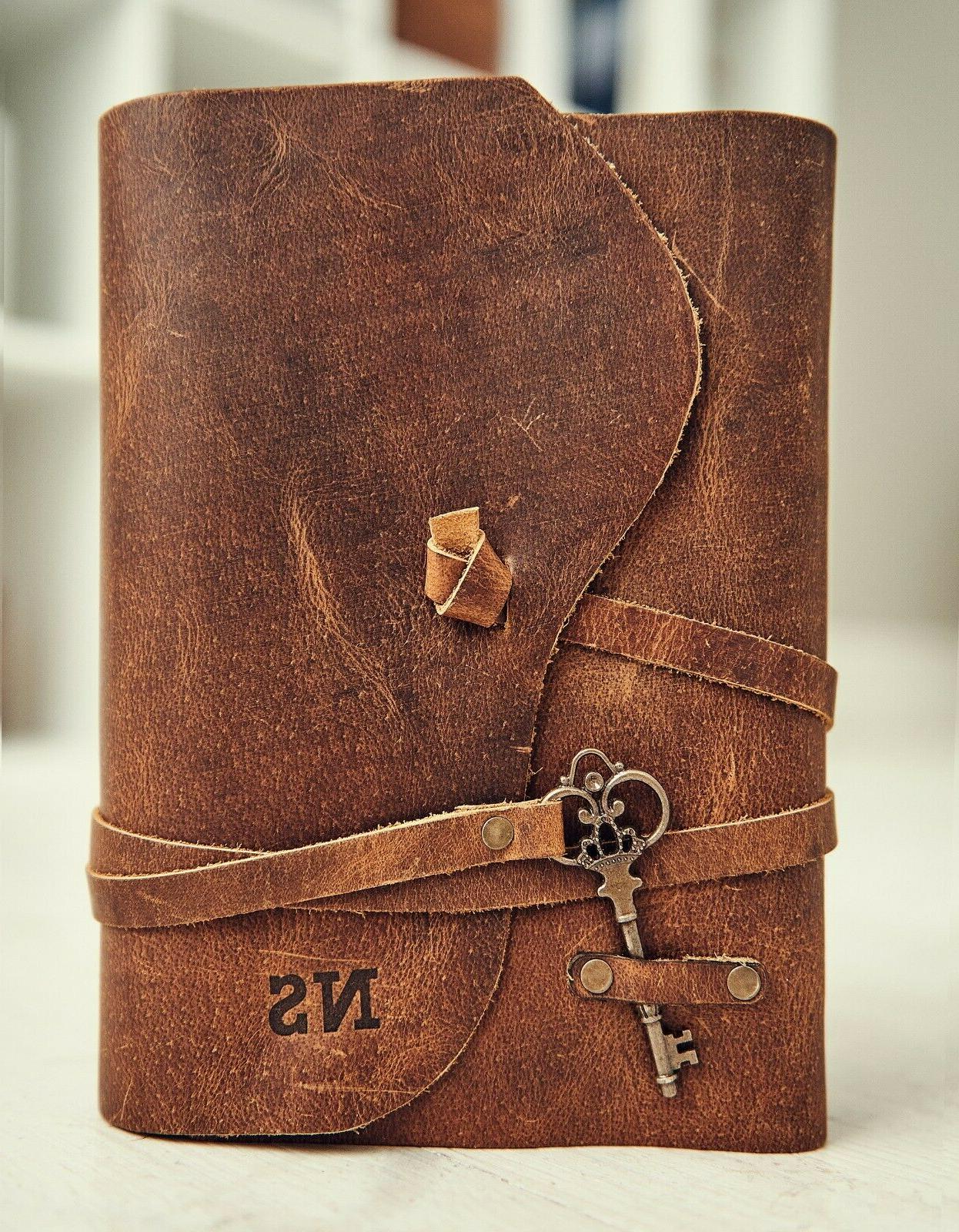 Personalized Leather Deckle Bound