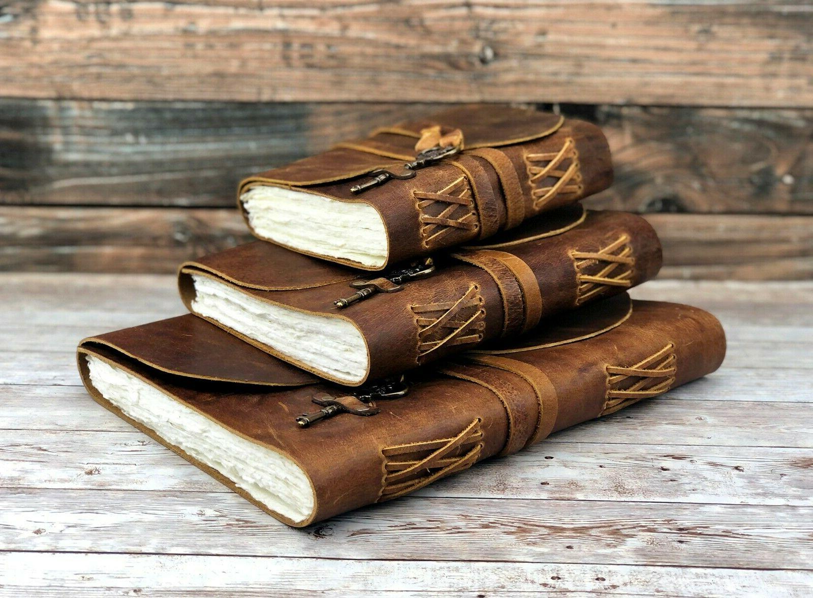 Personalized Leather Journal Deckle Paper Bound