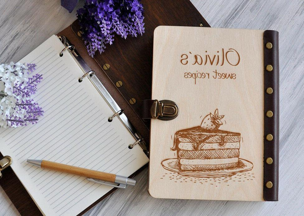 personalized recipe book mothers day gift wood