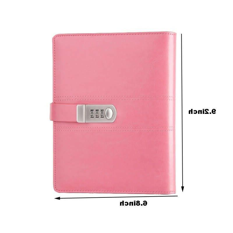 refillable journal notebook with password code lock