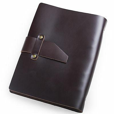 simple classic refillable leather journal with strap