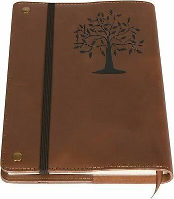 the tree of life real leather journal