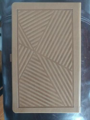 travel journal notebook tan leather made in
