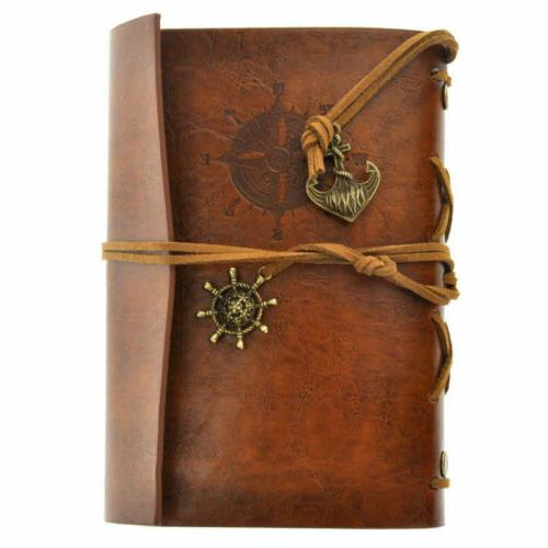 us classic retro leather journal travel notepad