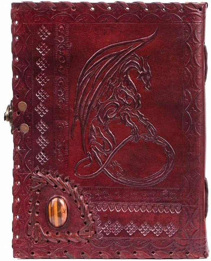 vintage leather bound journal with lock