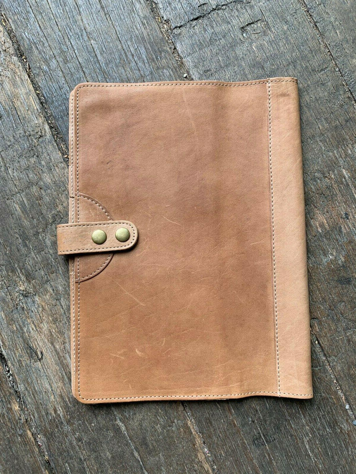 will leather goods large tan journal cover