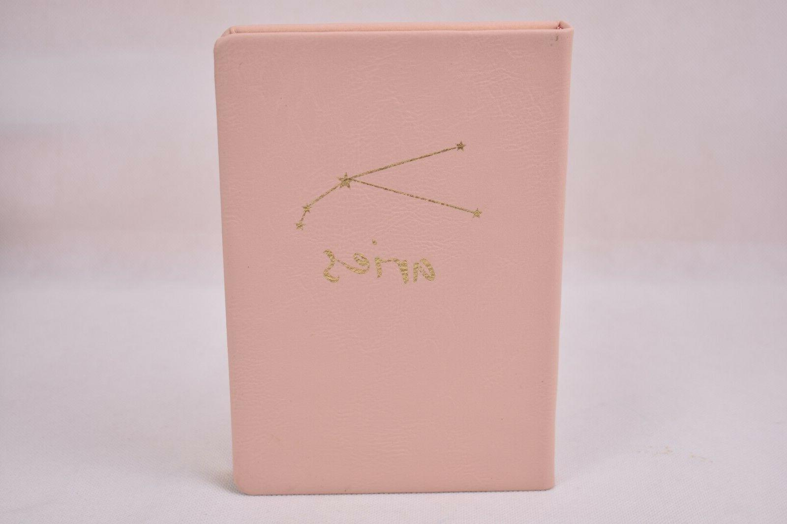 zodiac sign journal faux leather notebook aries
