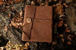 Leather Bound Journal Hand-Crafted Sketchbook Travel Artisan