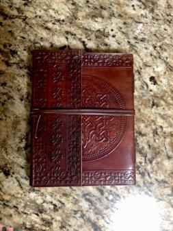 Leather Bound Journal Unlined Writing Notebook Handmade Leat