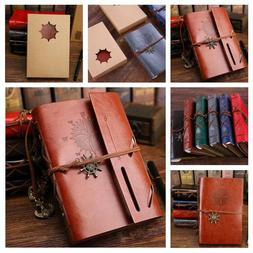 Leather Classic Notepad Journal Blank Diary Notebook Travel
