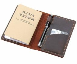 Leather Journal Cover for Field Notes, Moleskine Cahier Cove