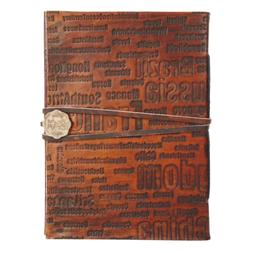 Leather Journal for Men - Vintage Travel Notebook with Embos