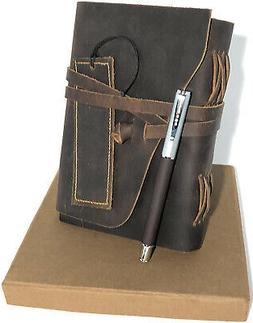 Leather Journal Gift Set - Premium Leather Journal for Men W