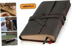 Leather Journal Lined Paper - Handmade Leather Bound Writing