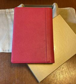 """Levenger Leather Journal Raspberry Pink - 8.5x6"""" NEW!"""
