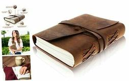 Leather Journal Writing Notebook - Antique Handmade Leather