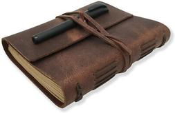 Leather Journal Writing Notebook - Genuine Leather Bound Dai
