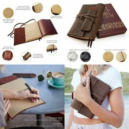"""Leather Journals for Women and Men + Pen Holder   8"""" x 6""""  """
