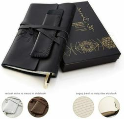 Leather Journals for Women and Men + Pen Holder | 8  x 6  |