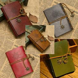 Leather Loose-leaf Traveler Notebook Pirate Diary Journal Re
