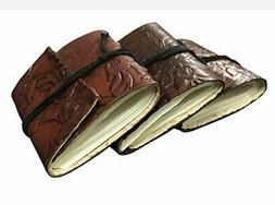 Leather small Journal Writing Notebook Bound Daily Notepad M