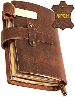 Leather Writing Journal Notebook For Men and Women - Leather