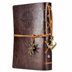 Leather Writing Journal Notebook Pad Nautical Geologists Tre