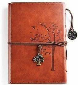 Lined Refillable Vintage Writing Journal for Women, Retro Tr