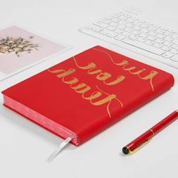 Live Love Teach Leather Vintage Journal Notebook Lined Paper