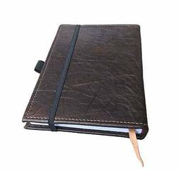 Refillable Genuine Leather Journal  with Pen Loop&bookmark