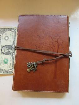 """New leather journal book cover with tie 9"""" X 6"""" X 1"""""""