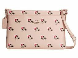 New Coach Pink Bramble Rose Collection Journal Crossbody Bag
