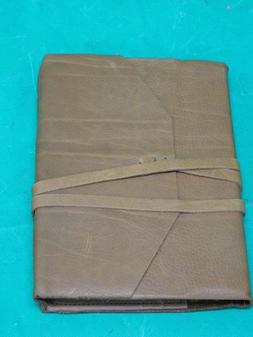 New Poet's Cognac Soft Leather Italian Journal with Tie  Mad