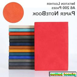 Notebook A6 Thicken Leather Cover Journal Writing Mini Noteb