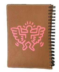 NWT Keith Haring x Coach Man With Wings Brown & Pink Leather