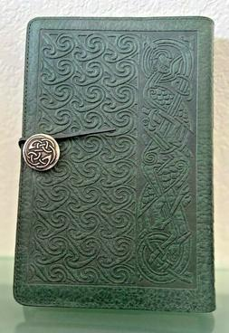 Oberon Leather Refillable Journal Cover w/ journal Dark Gree