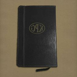 Personalized Monogram Leather Journal Notebook Diary - Black
