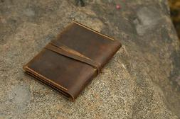 personalized retro leather simple a6 refillable leather