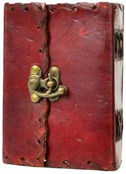 """Plain Leather Journal with Metal Lock 3 X 5 """""""