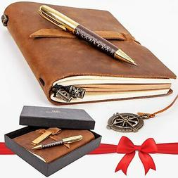 Premium Leather Journal Set: Real Authentic Antique Style an