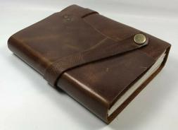 Stonesman Products Handmade Leather Bound Journal Travel Dia