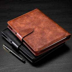 PU Leather Cover Journal Business Notebook Lined Paper Diary