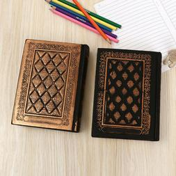 PU Leather Vintage Journals Notebook Lined Paper Diary Plann