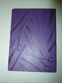 PURPLE ECCOLO FAUX LEATHER PENS & PENCILS EMBOSSED LINED JOU