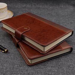 IDNY Refillable PVC Leather Writing Notebook Journal w Butto