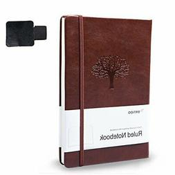 Ruled Journals/Notebooks,WERTIOO Leather Diary Hardcover Cla