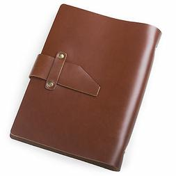simple classic refillable leather journal notebook