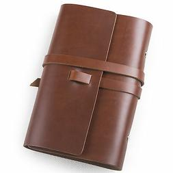 Ancicraft Simple Classic Refillable Leather Journal Notebook