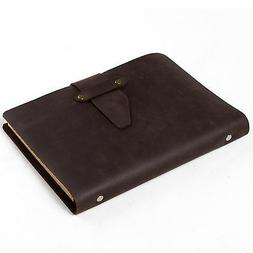 Ancicraft Simple Classic Refillable Leather Journal With Str